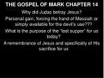 the gospel of mark chapter 14