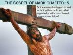 the gospel of mark chapter 15