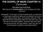 the gospel of mark chapter 16 continued24