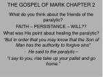 the gospel of mark chapter 2