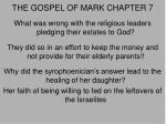 the gospel of mark chapter 7