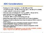 adc considerations