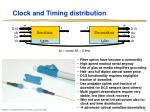 clock and timing distribution