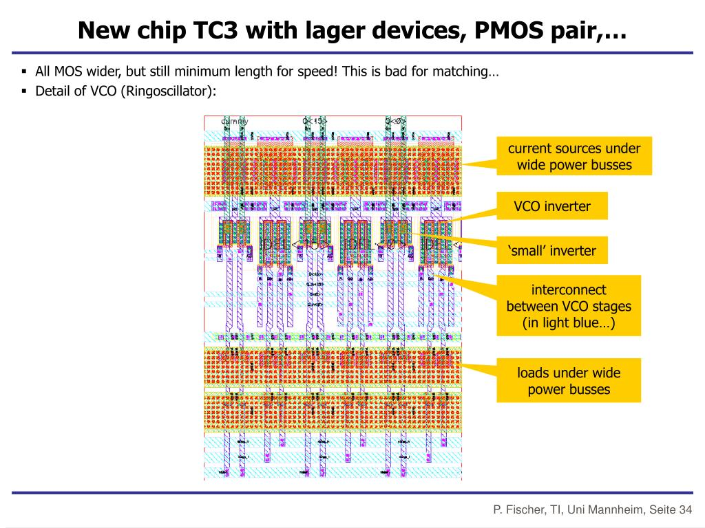 New chip TC3 with lager devices, PMOS pair,…