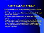 crystal or speed