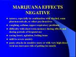 marijuana effects negative
