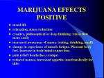 marijuana effects positive
