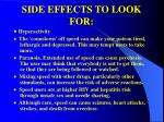 side effects to look for
