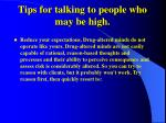 tips for talking to people who may be high