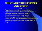 what are the effects and risks cont46