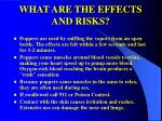 what are the effects and risks