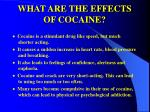 what are the effects of cocaine