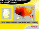 solar energy is the most abundant u s energy resource