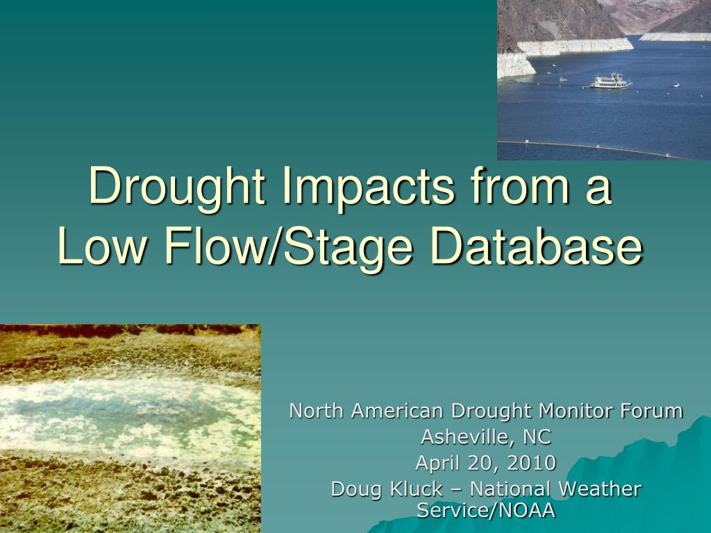 drought impacts from a low flow stage database l.
