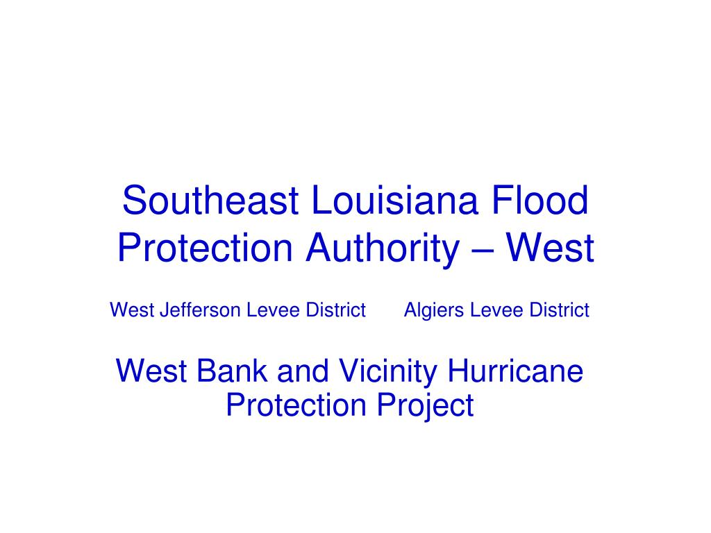 southeast louisiana flood protection authority west l.