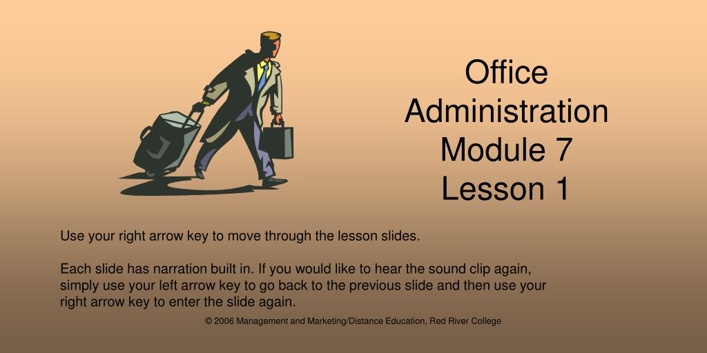 office administration module 7 lesson 1 l.