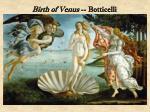 birth of venus botticelli