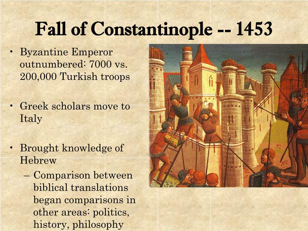 Fall of Constantinople -- 1453