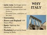 why italy