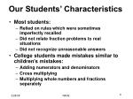 our students characteristics
