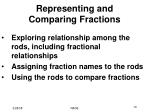 representing and comparing fractions