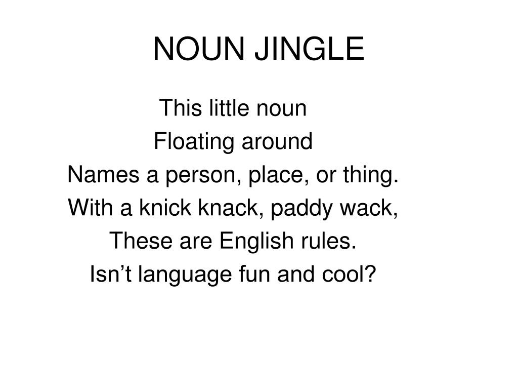 noun jingle l.