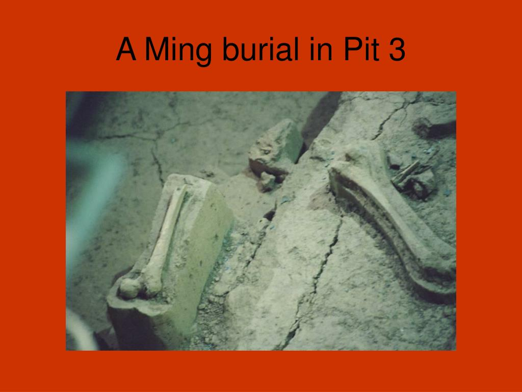 A Ming burial in Pit 3