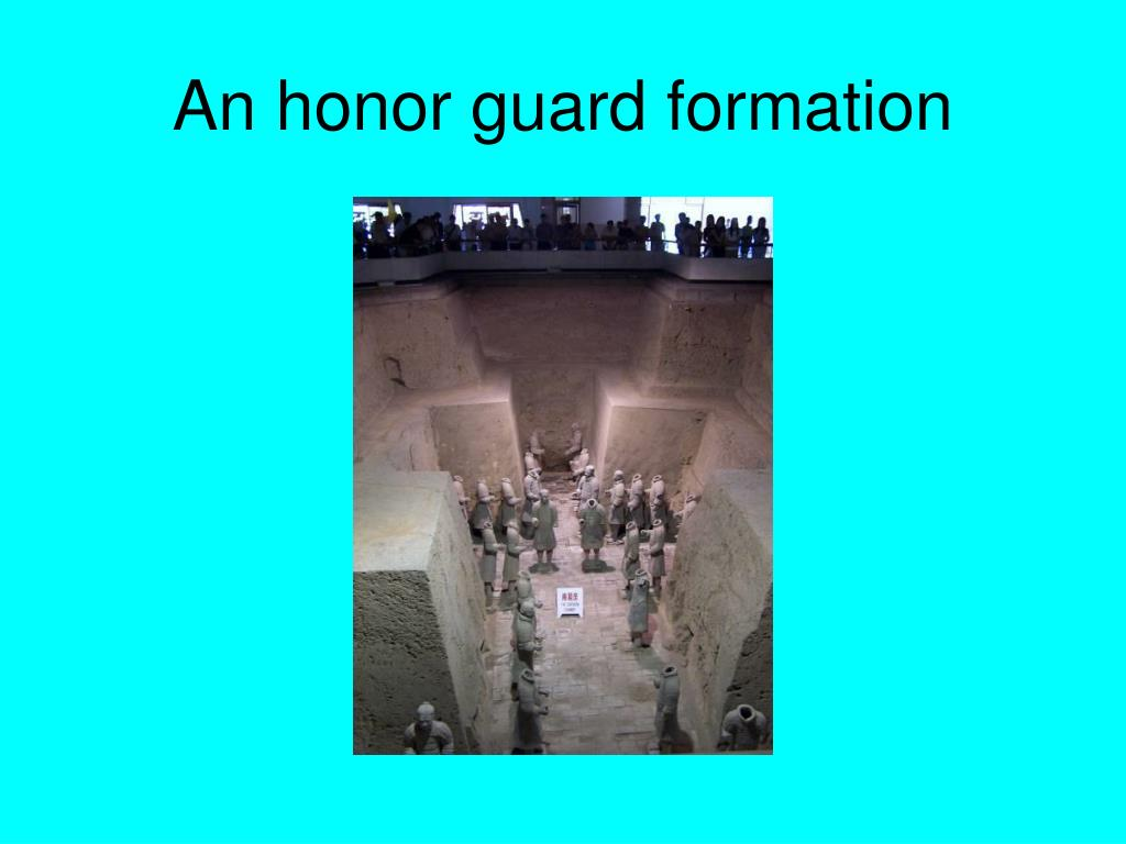 An honor guard formation