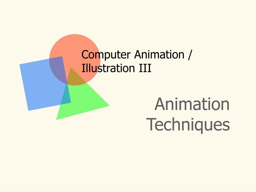 computer animation illustration iii l.