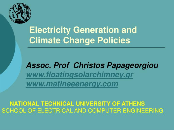 electricity generation and climate change policies n.