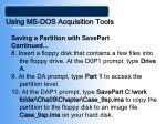 using ms dos acquisition tools23