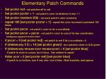 elementary patch commands