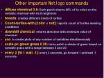 other important netlogo commands