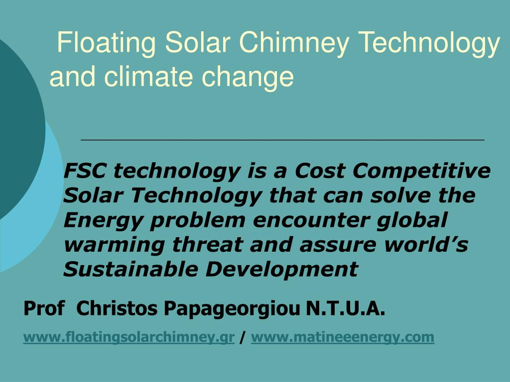 floating solar chimney technology and climate change l.