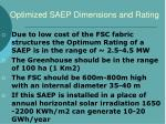 optimized saep dimensions and rating