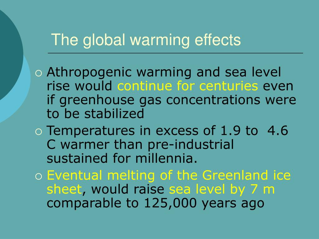 global warming and the effects on