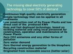 the missing ideal electricity generating technology to cover 50 of demand