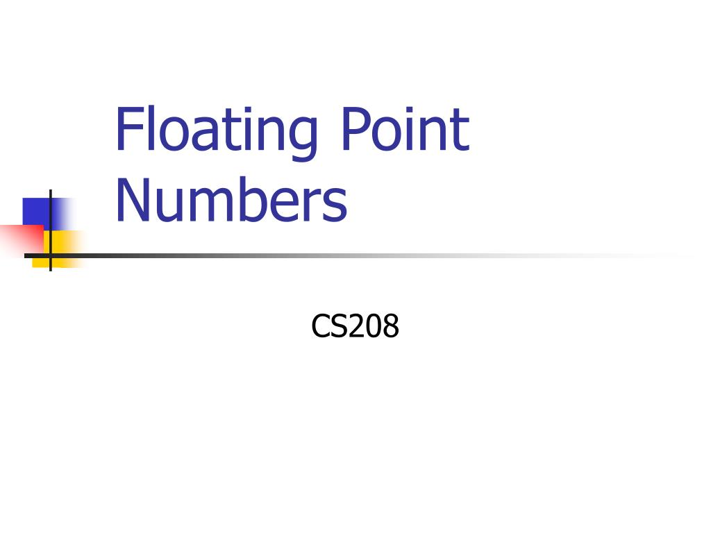 floating point numbers l.