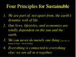 four principles for sustainable