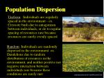population dispersion7