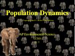 population dynamics chapters 8 and 9 miller 15th edition