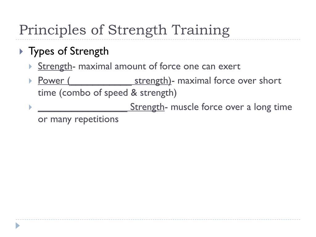 Principles of Strength Training