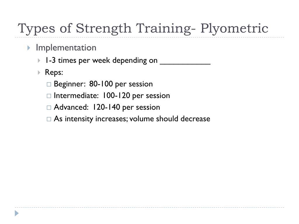 Types of Strength Training- Plyometric