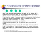 in network cache coherence protocol