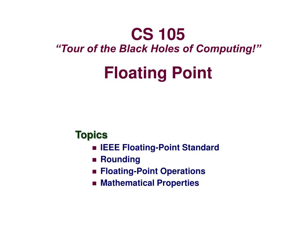 floating point l.