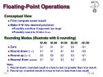 floating point operations