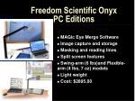 freedom scientific onyx pc editions