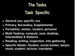 the tasks task specific