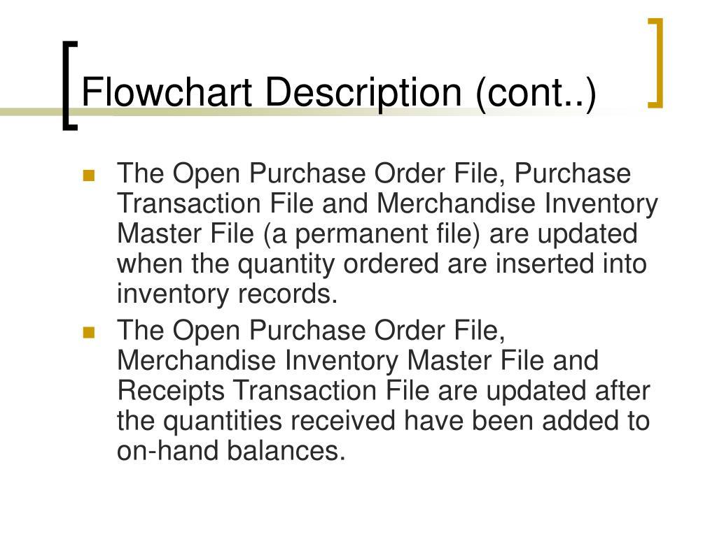 Flowchart Description (cont..)