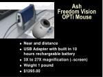 ash freedom vision opti mouse